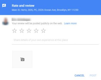 Google My Business - GMB - Google Review Form