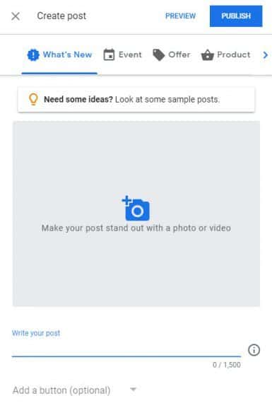 Google My Business - GMB - Create Oist