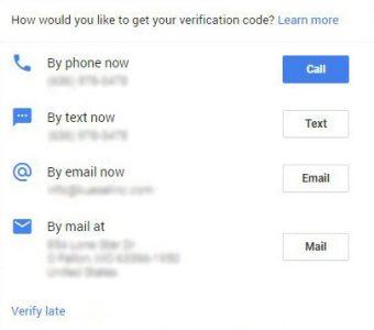 Google My Business - GMB - phone-verification
