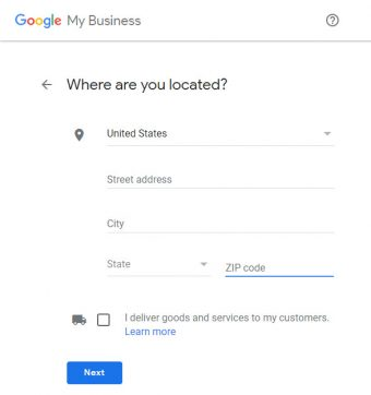 Google My Business - (GMB) Where are you located