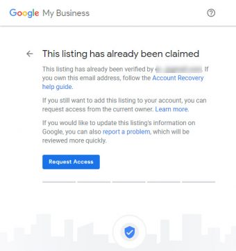 Google My Business - GMB - This listing has already been claimed.