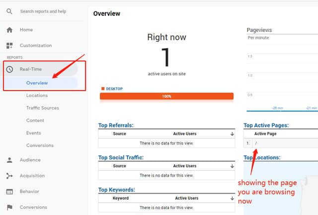 How to verify Google Analytics installation