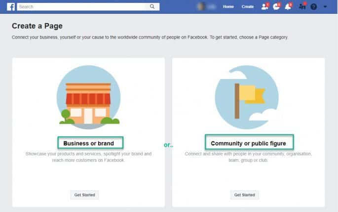 Facebook Business Page - Create a Page