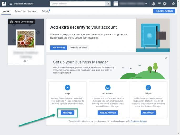 Facebook Business Manager - Add Page