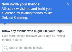 Now invite your friends to you Facebook Business Page